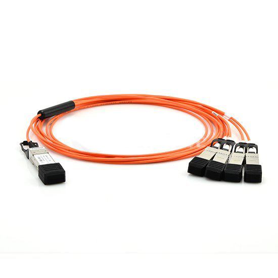 FG-CABLE-SR10-SFP+  Fortinet 1x 100GE SR10 CFP2 MPO 10x 10GE SFP+ LC duplex 1m OM3 MMF Cable