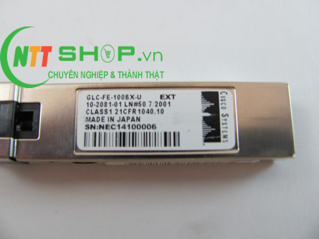 Module quang Cisco GLC-FE-100BX-U 100BASE-BX10-U 1310nm 10km SMF SFP Transceiver