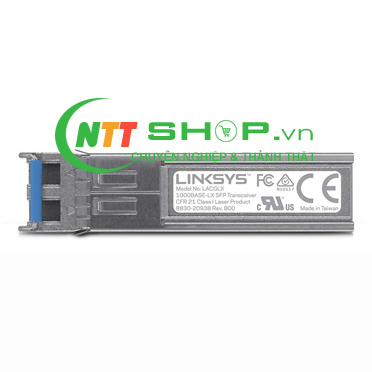Module quang SFP Linksys - LACGLX - 1000base-LX: 1 Gbps, up to  10 km, for SMF optical fiber