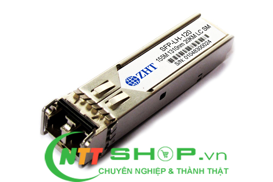 Module quang ZHT SFP-LH-120A 155Mb 1310nm 20km LC SMF Industrial SFP Transceiver