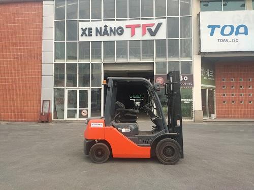 Xe nâng dầu 2. 5 tấn Toyota cũ Model 02-8FDL25