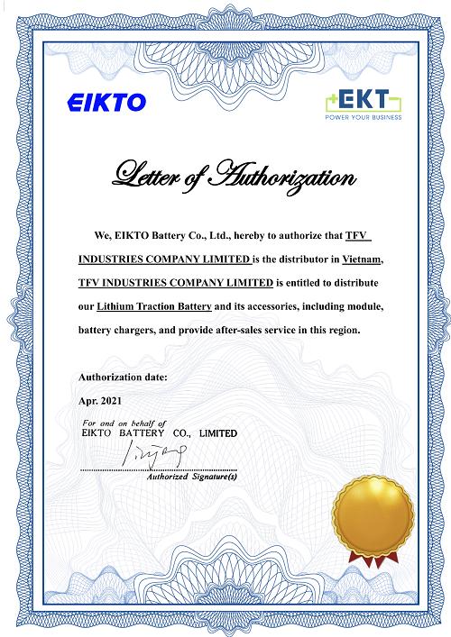 TFV là đối tác chiến lược của nhà sản xuất ắc quy hàng đầu thế giới EKT