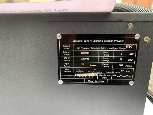 Bộ sạc ắc quy lithium 24V- 100A hiệu EIKTO, hàng mới 100%