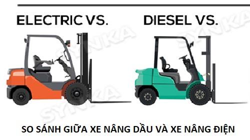 Nên mua xe nâng điện hay xe nâng dầu Diesel
