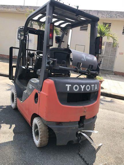 Xe nâng gas 1.5 tấn Toyota 8FGL15
