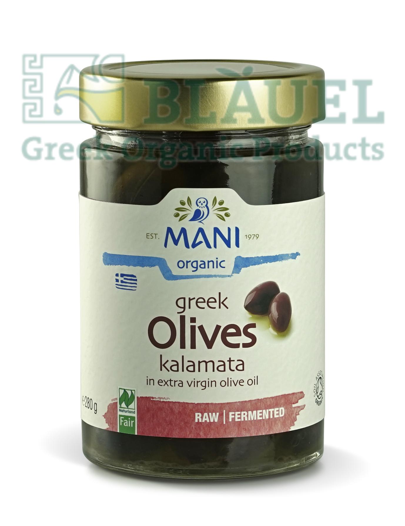 [Mani] Trái Olive Kalamata Hữu Cơ (ngâm trong dầu Olive) 280gr