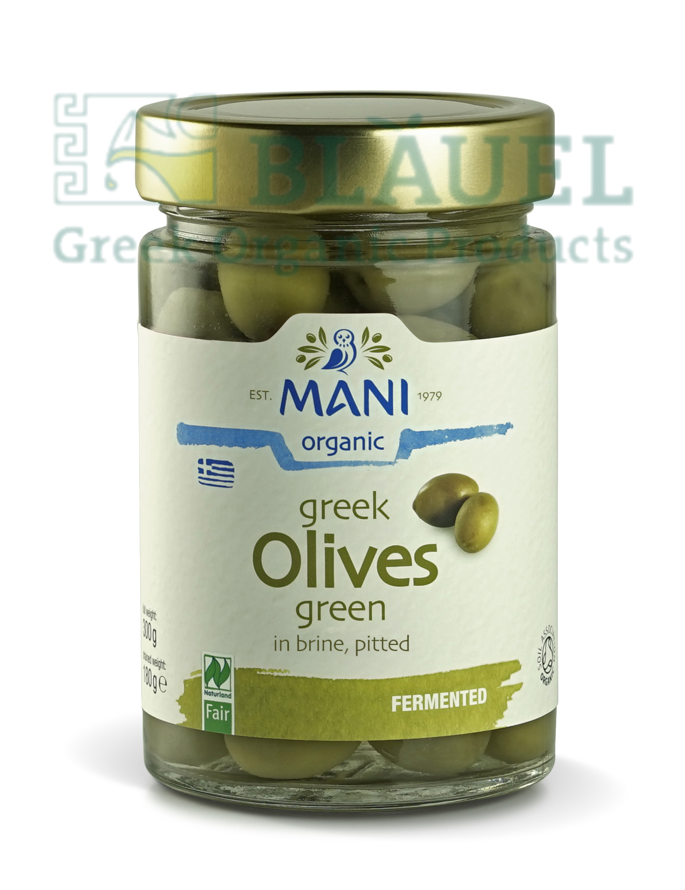 [Mani] Trái Olive Xanh Hữu Cơ (ngâm trong nước muối, đã tách hạt) 280gr