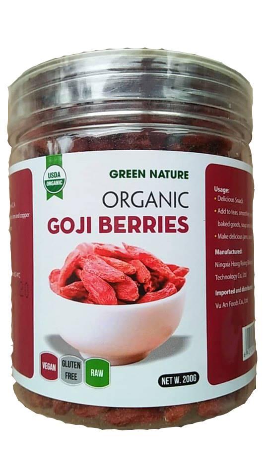 Trái Kỉ Tử Khô Hữu Cơ Green Nature 200g ( Organic Goji Berries )