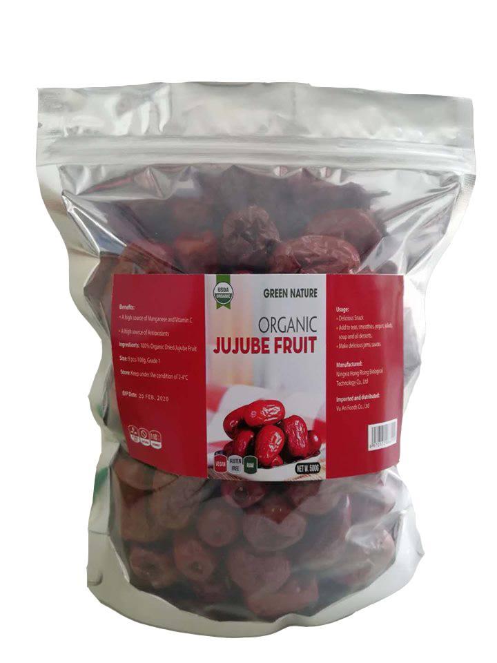 Táo Đỏ Hữu Cơ Green Nature 500g ( Organic Jujube )