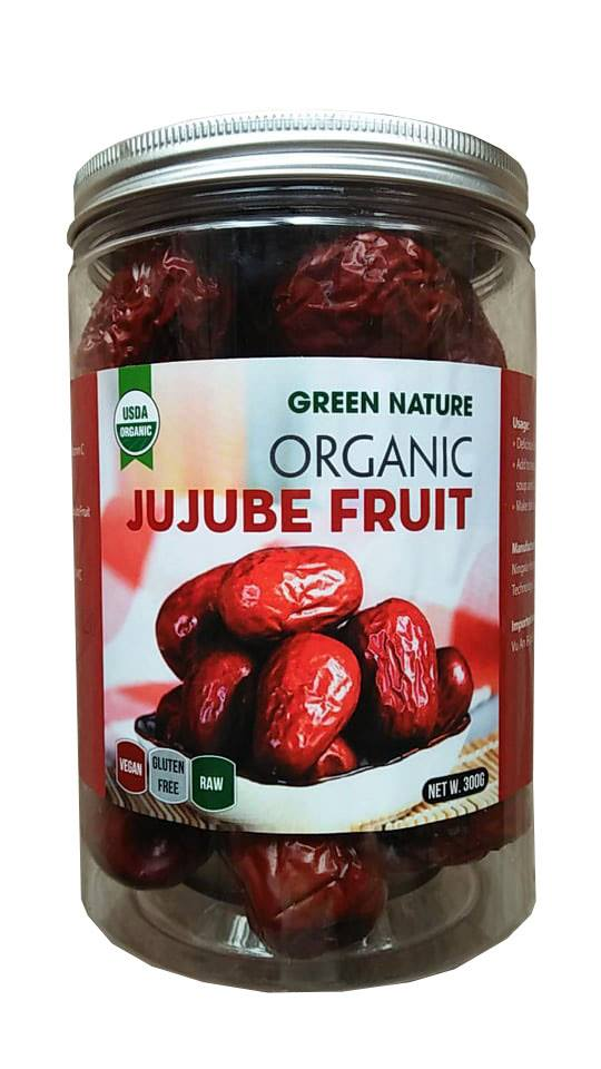 Táo Đỏ Hữu Cơ Green Nature 300g ( Organic Jujube )