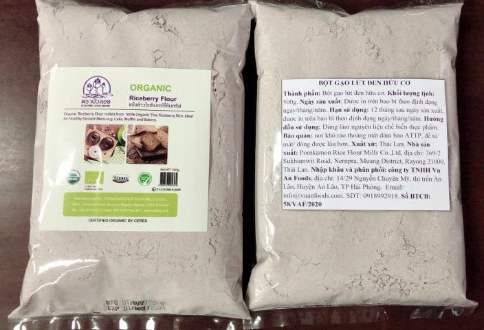 [ Thái Lan ] Bột Gạo Lứt Đen Hữu Cơ 500g