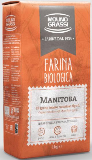 [Grassi] Bột Làm Bánh Mì Manitoba Hữu Cơ 1kg