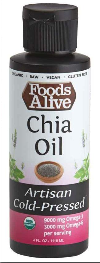 Dầu Hạt Chia Hữu Cơ Foods Alive ( Organic Chia Seed Oil ) 118mL