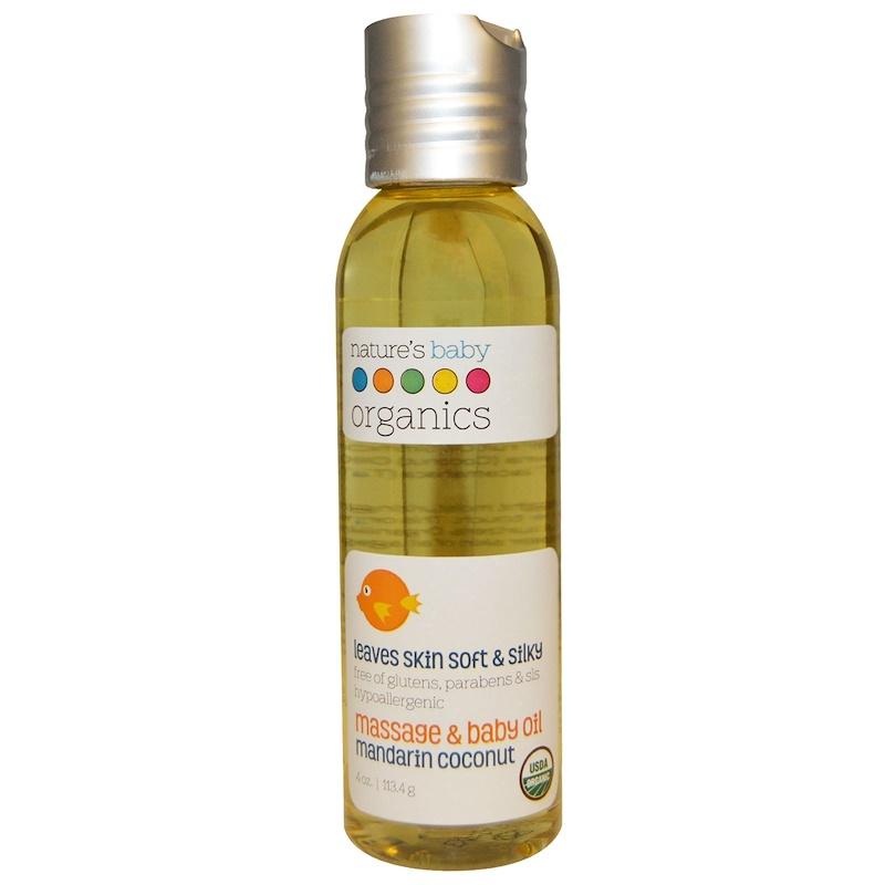 Dầu Massage Dưỡng Ẩm Cho Bé Hữu Cơ Nature's Baby Organics 113.4g