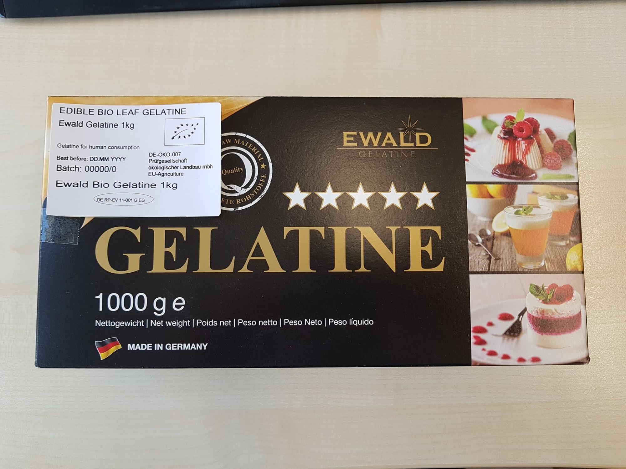 Gelatine Hữu Cơ Dạng Lá 1kg