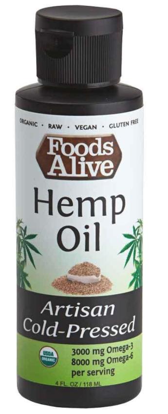 Dầu Gai Dầu Hữu Cơ Foods Alive ( Organic Hemp Oil ) 118mL