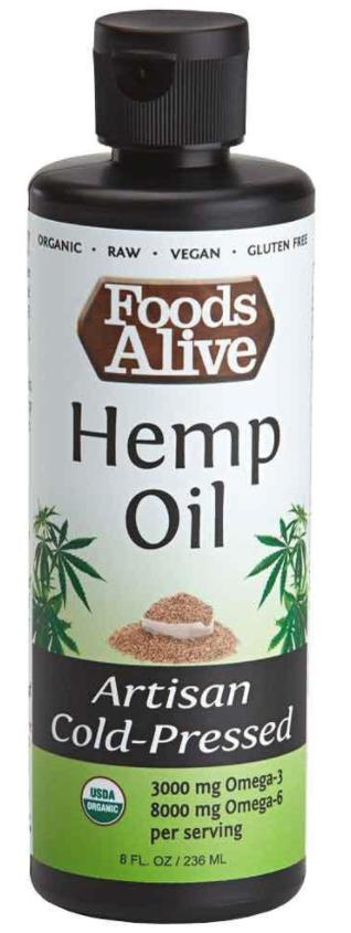 Dầu Gai Dầu Hữu Cơ Foods Alive ( Organic Hemp Oil ) 236mL
