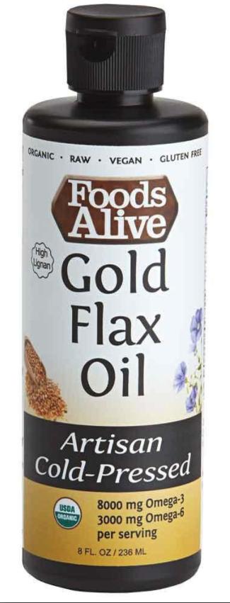 Dầu Hạt Lanh Hữu Cơ Foods Alive ( Organic Flax Seed Oil ) 236mL