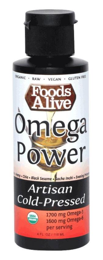 Dầu Omega Power Hữu Cơ Foods Alive ( Mix 6 loại dầu ) 118mL