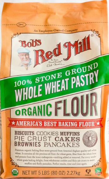 [ Bob's Red Mill ] Bột Hạt Mì Mềm Nguyên Cám Hữu Cơ 2.27kg