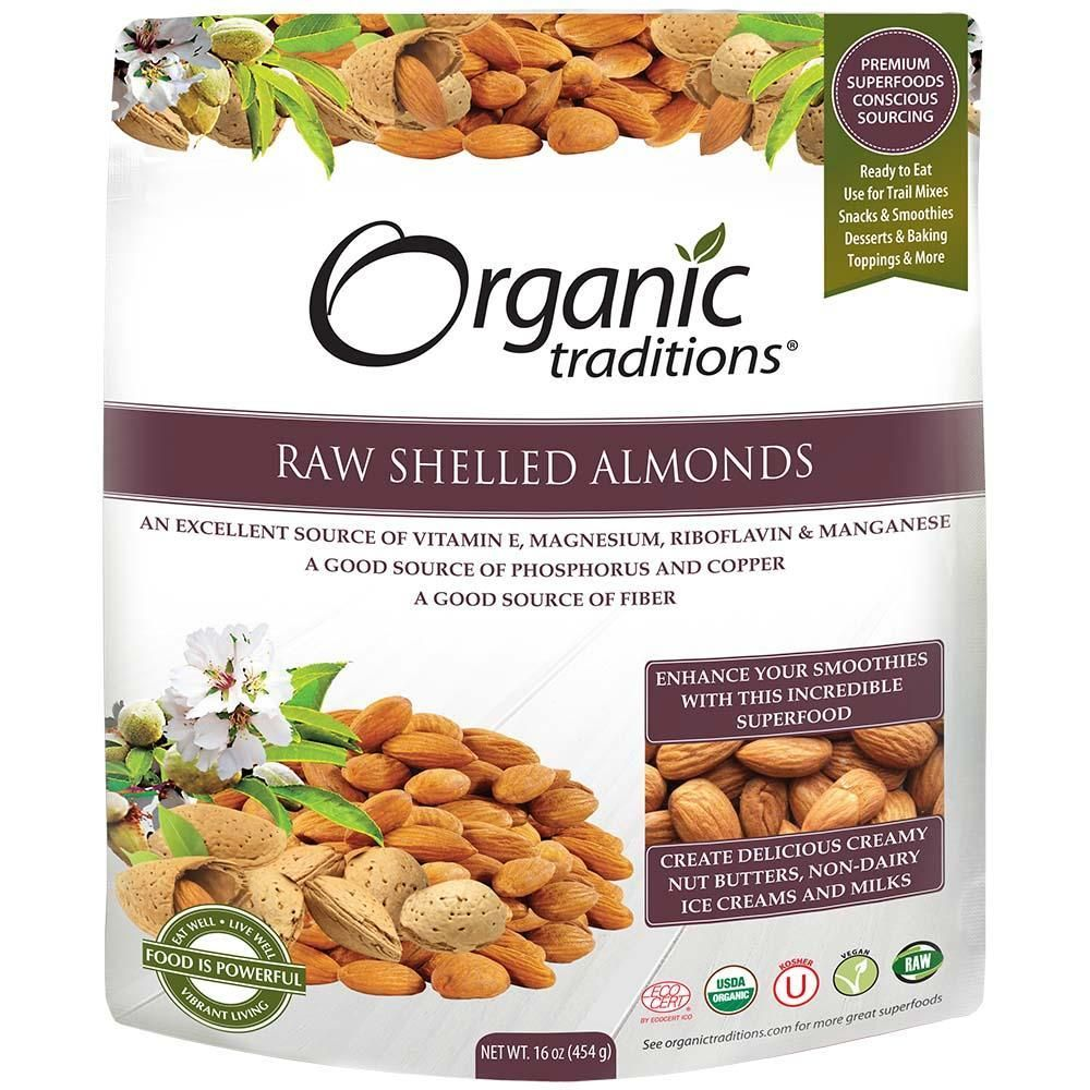 Hạnh Nhân Hữu Cơ Organic Traditions 454g