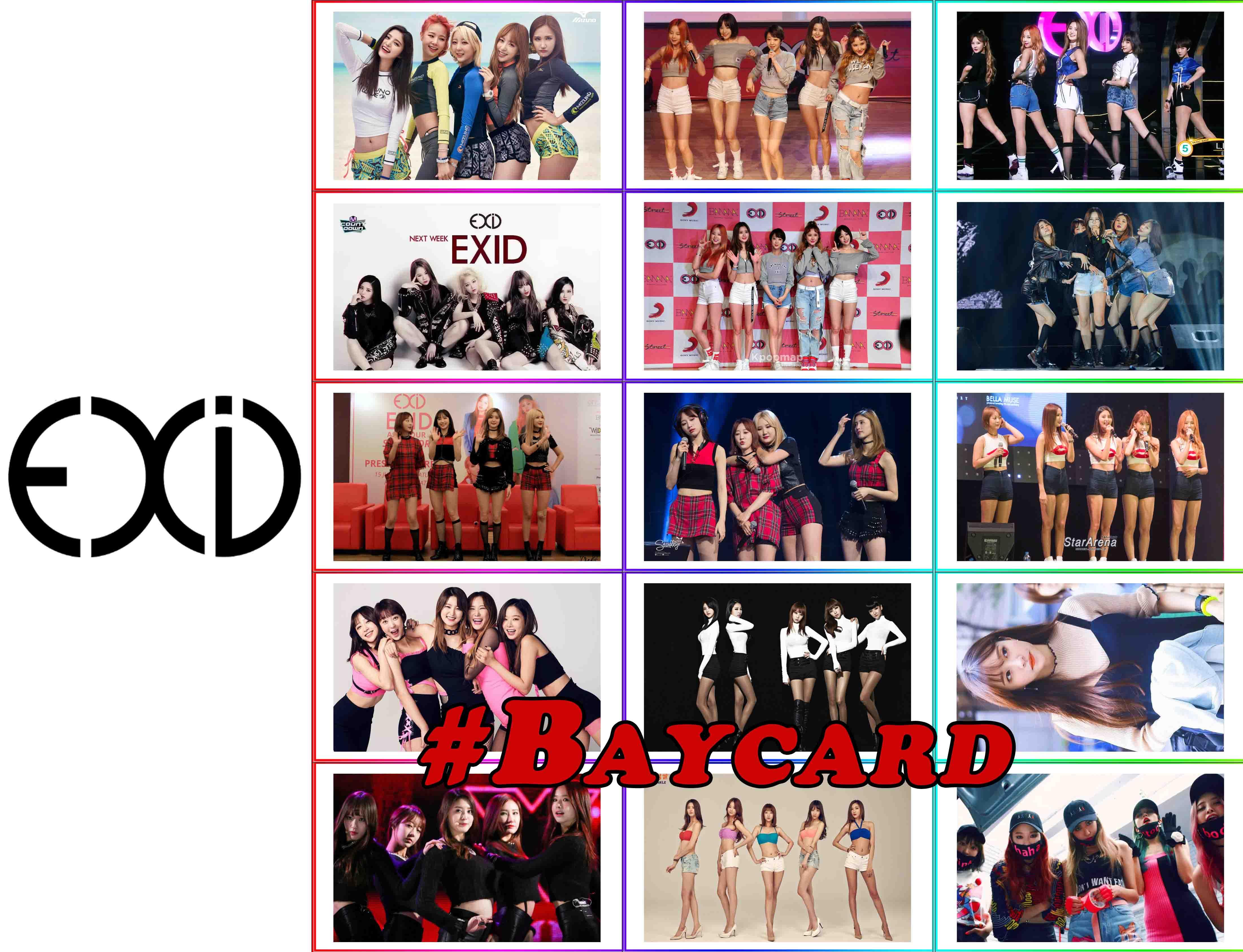 EXID - Baycard EXID đủ chủng loại, có 19 bộ khác nhau