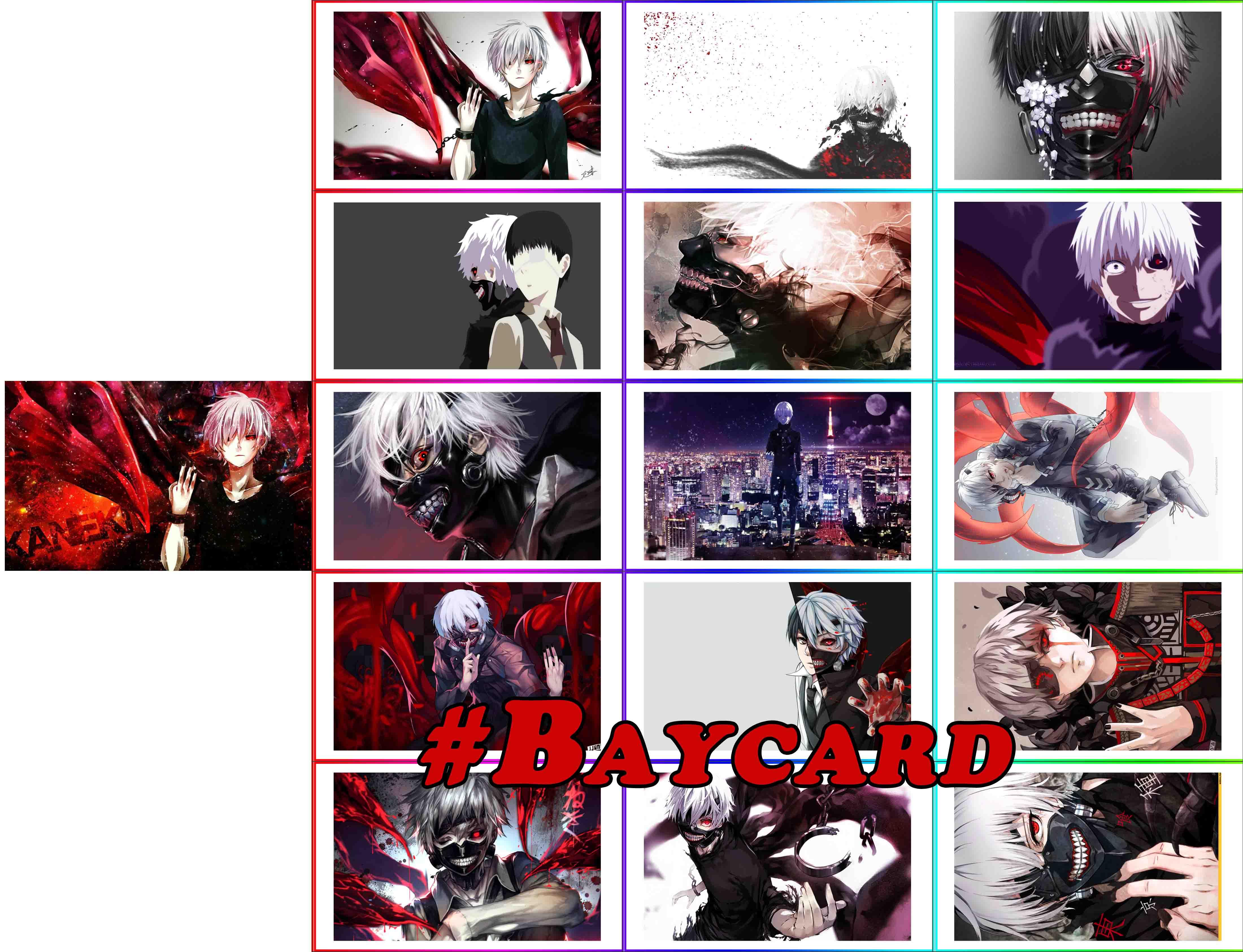 Tokyo ghoul - Baycard đa dạng với 7 bộ Tokyo ghoul khác nhau