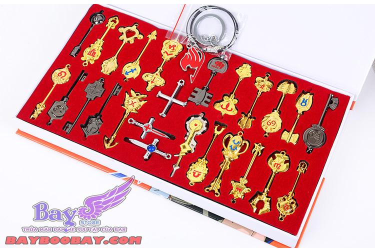 Set chìa khóa cung hoàng đạo Lucy- Fairy Tail