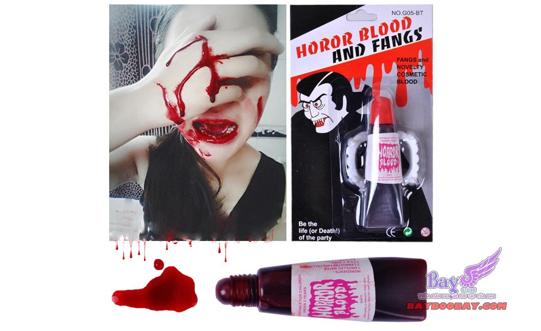 Răng Vampire và máu giả