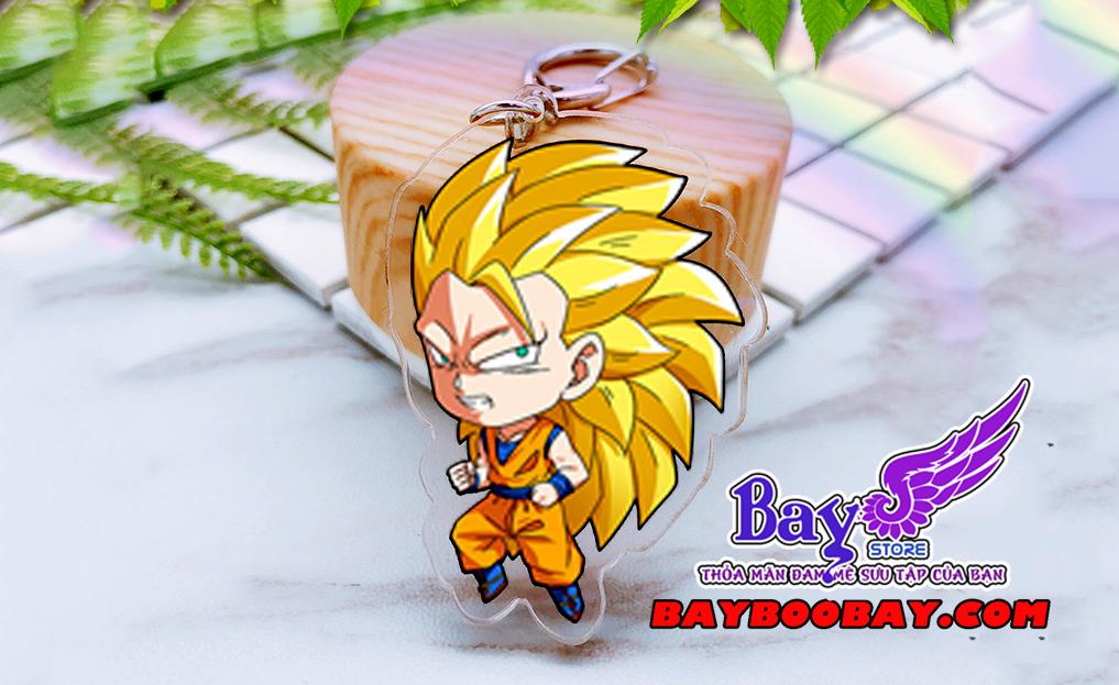 ✅Móc khóa Goku Supper Saiyan 3