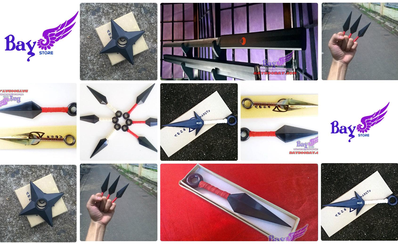 ✅ Kunai, phi tiêu, kiếm sasuke, shuriken