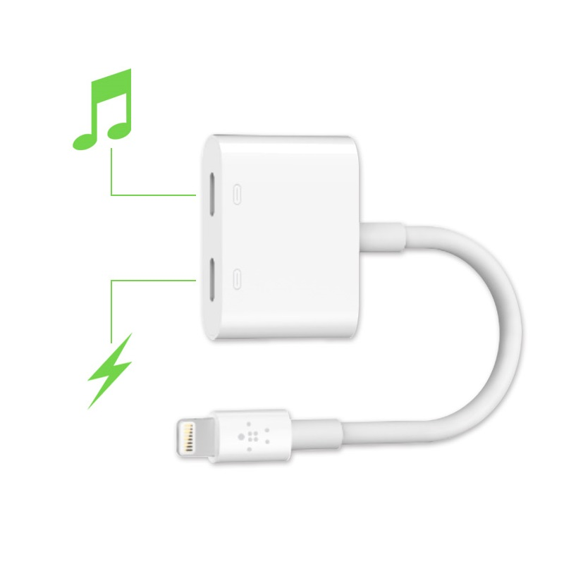 Đầu chia Belkin Lightning Audio & Charge Rockstar F8J198bt