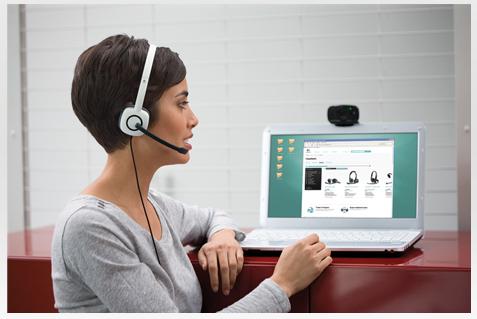 Tai nghe nhạc gồm microphone Logitech Headset H150