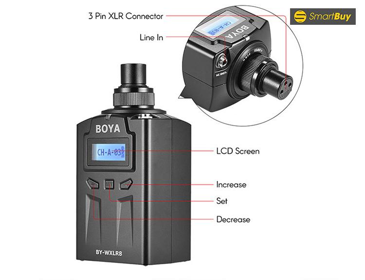 Boya BY-WXLR8 transmitter - bộ chuyển tín hiệu cho Boya WM6 - WM8
