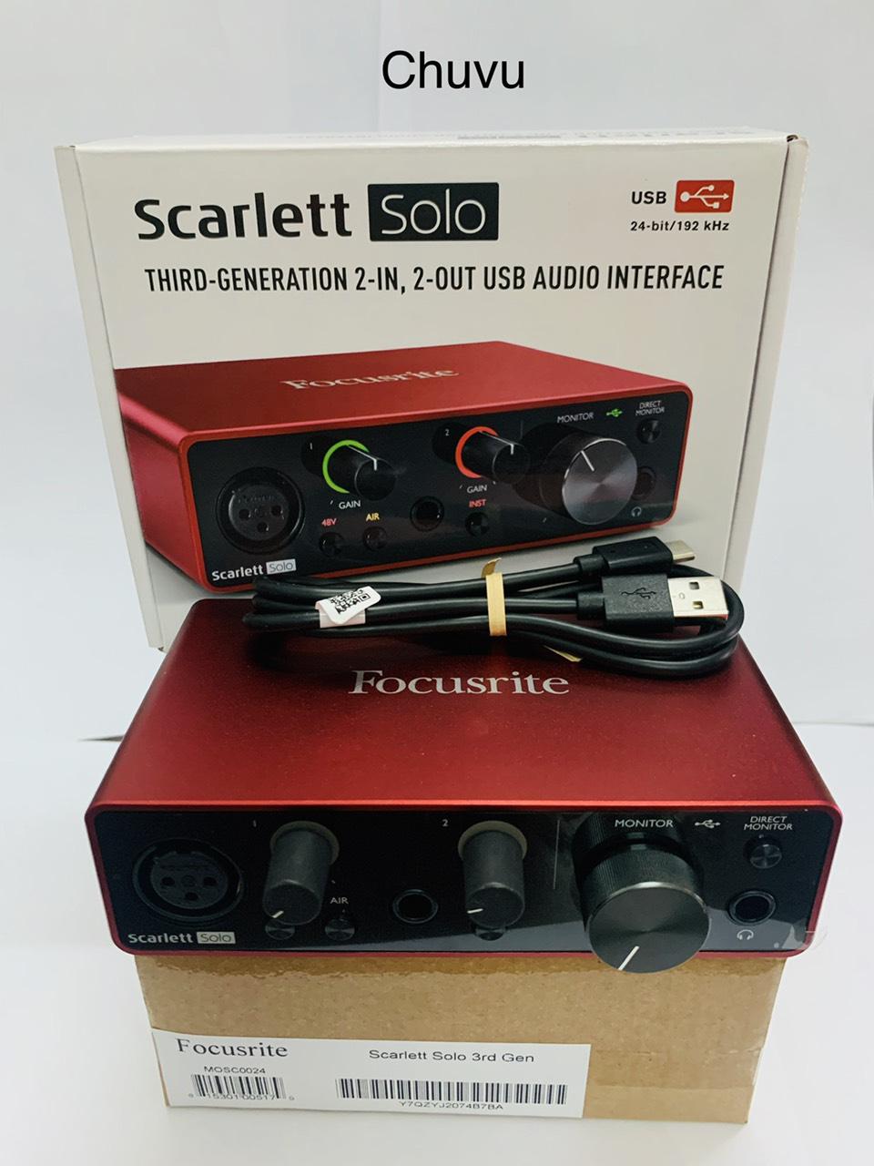 Sound card thu âm Focusrite Scarlett Solo Gen3