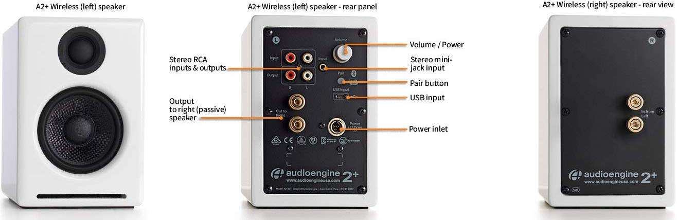 Loa Audioengine A2+ Wireless (White)