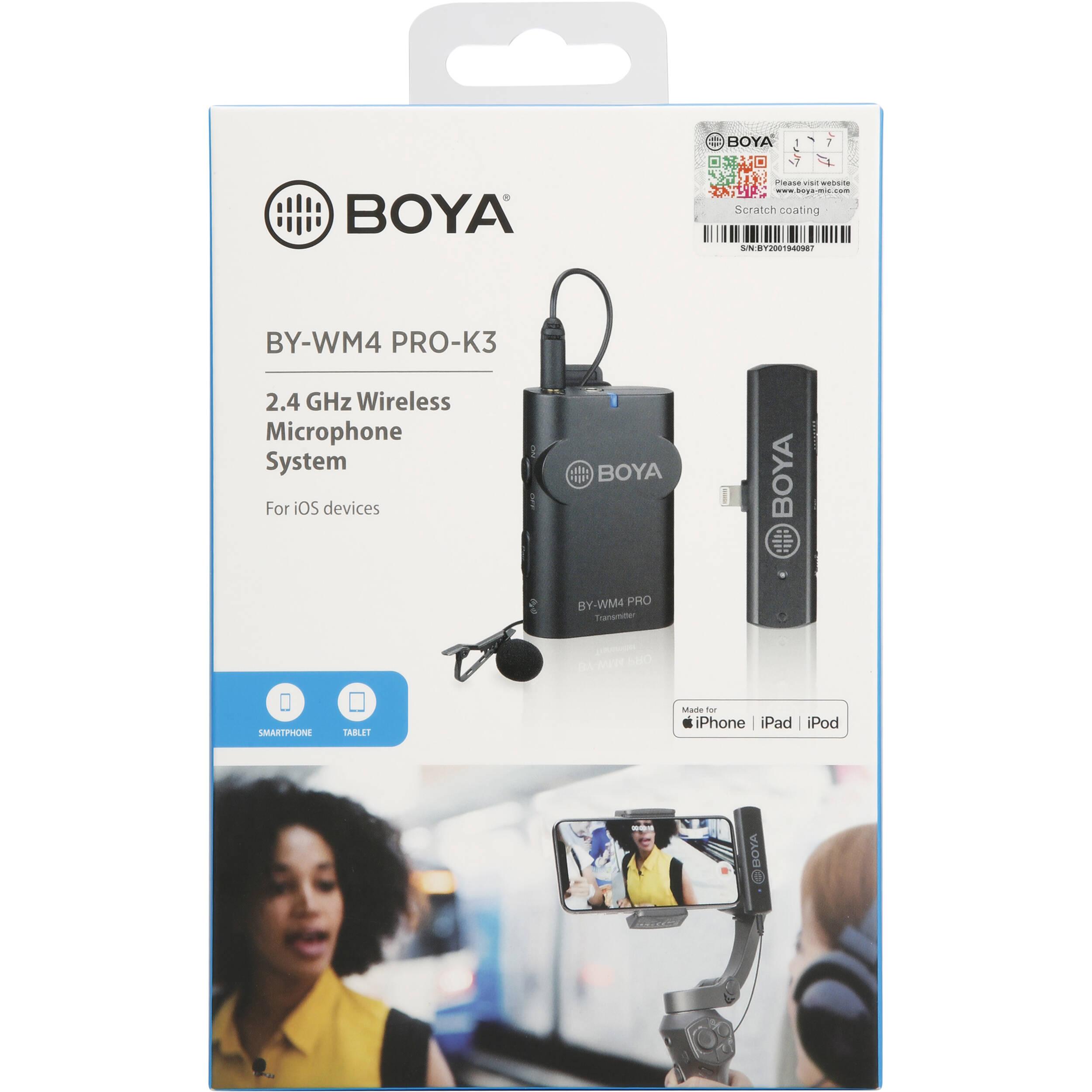 Micro không dây cài áo BOYA BY-WM4 Pro-K3