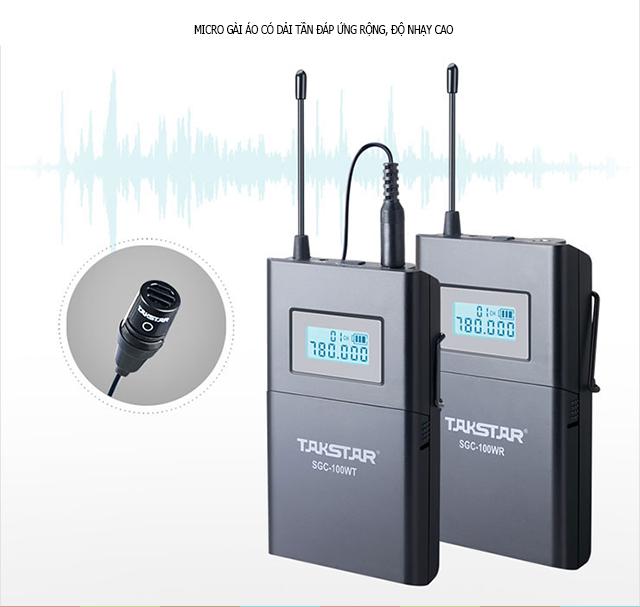 Microphone gài áo không dây Takstar SGC-100W