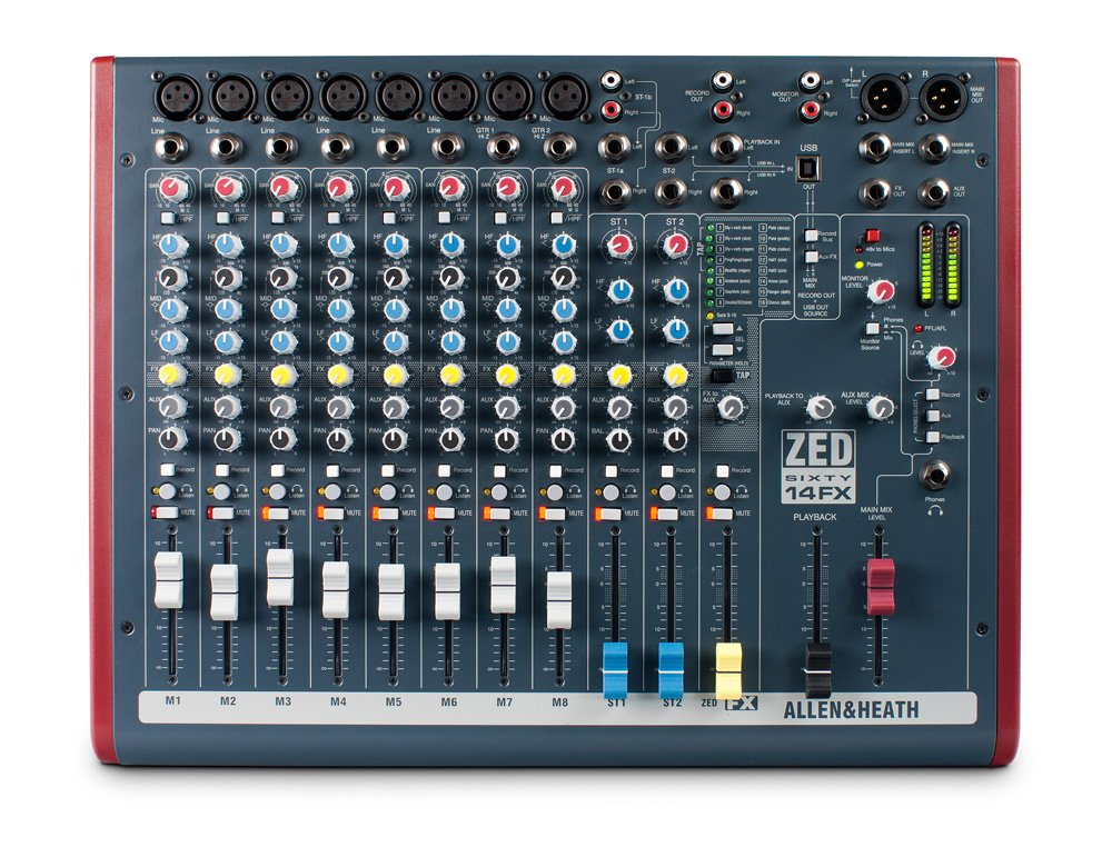 Mixer Allen  Heath ZED60-14FX