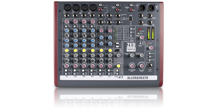 Mixer Allen  Heath  ZED 10FX