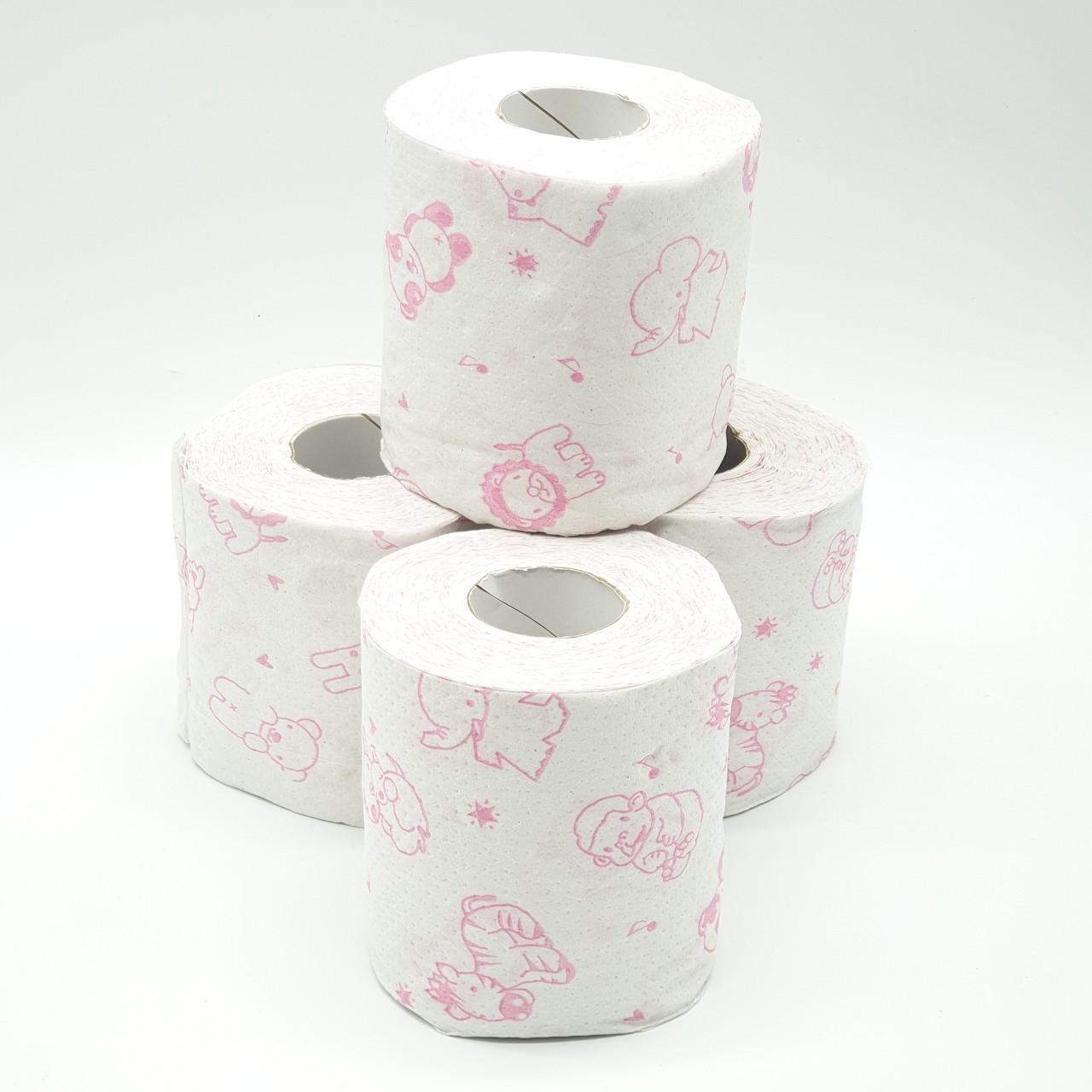 Bộ 4 cuộn giấy vệ sinh OSADA  mẫu hoạt hình