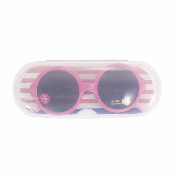 Kính râm chống tia UV cho bé (gọng hồng tròn)