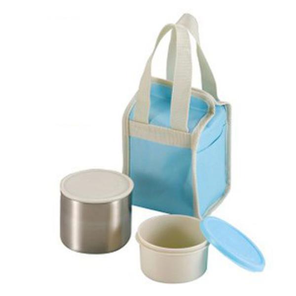 Hộp đựng thực phẩm giữ nhiệt 2 tầng kèm túi đựng giữ nhiệt PEARL LIFE (màu xanh)