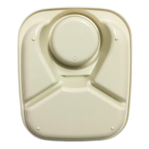 Khay ăn 3 ngăn có kèm khay để cốc thìa dĩa hình chữ nhật nhập khẩu nhật bản