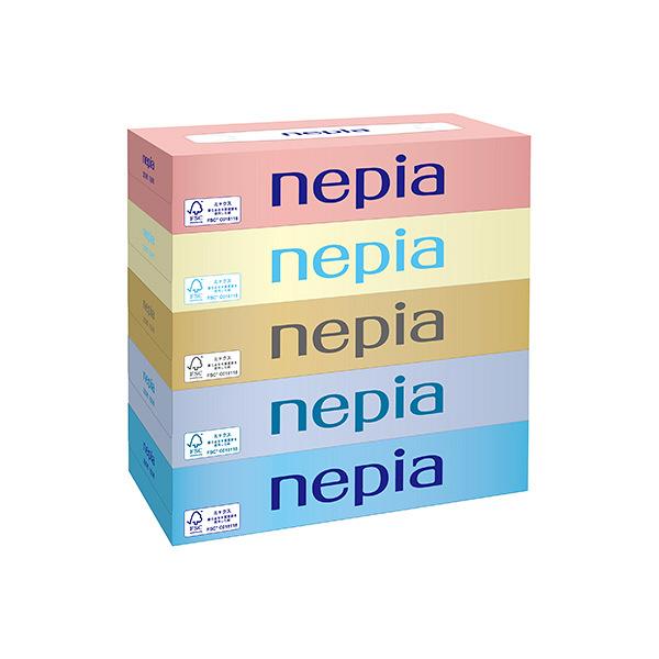 Set 5 hộp giấy ăn 150 tờ Nepia màu sắc hàng nhật nhập khẩu