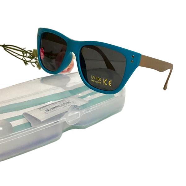 Kính râm chống tia UV cho bé (gọng xanh vuông)