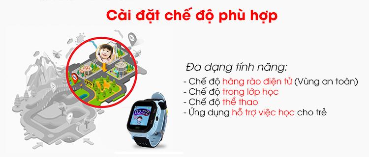 Đồng hồ định vị trẻ em  GW500s Hỗ trợ GPS+AGPS+LBS+SIM+Wifi+ cảm ứng màn hình