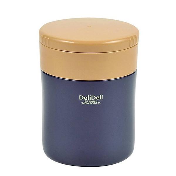 Bình ủ cháo kèm thìa Pearl Lilfe (400ml, màu xanh navy)