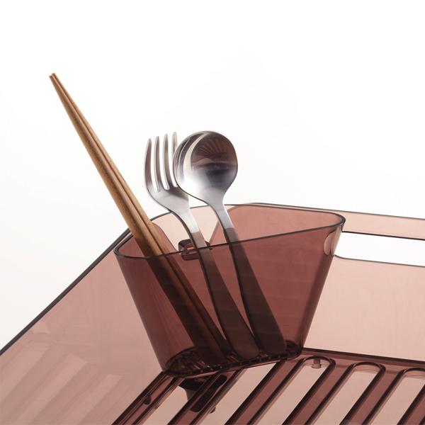 Hàng Nhật - Ống cắm đũa thìa dáng tam giác màu nâu