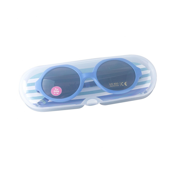Kính râm chống tia UV cho bé (gọng xanh tròn)